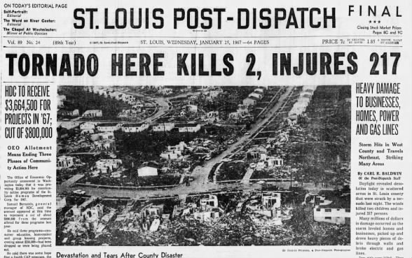 Jan. 24, 1967: Tornado rips through St. Louis