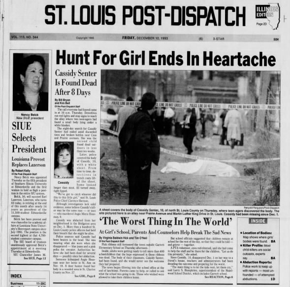 Hunt for girl ends in heartache | Law and order | stltoday.com