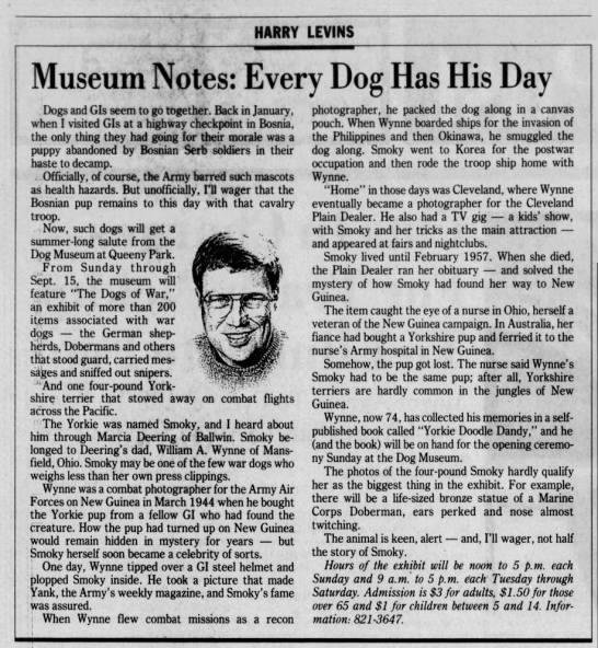 - HARRY LEVINS Museum Notes: Every Dog Has His...