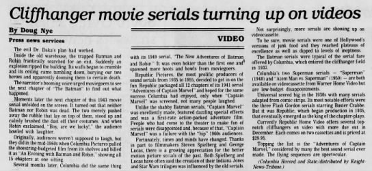 ThePittsburghPress-PA-Oct-18-1990 - Cliffhmger movie serials turning up on videos...