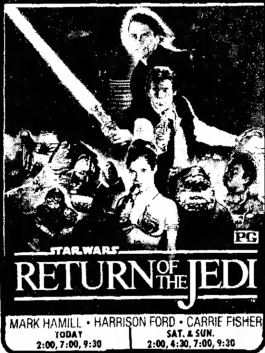 Return of the Jedi - MARK HAMILL • HARRISON FORD • CARRIE FtSHER...