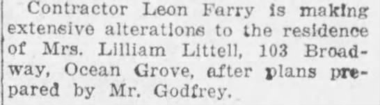 Leon Farry contractor? 08 Dec 1919 - Contractor Leon Farry is making extensive...