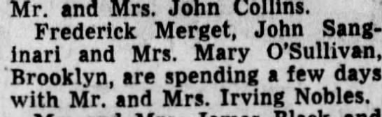 Merget - Mr. and Mrs. John Collins. Frederick Merget,...