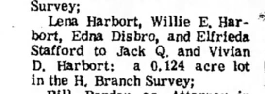 July 12, 1973 Seguin - Survey; Lena Harbort, Willie E. Harbort,...