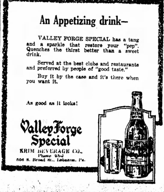 Valley ForgebSpecial - An Appetizing drink- VALLEY FORGE SPECIAL haa a...