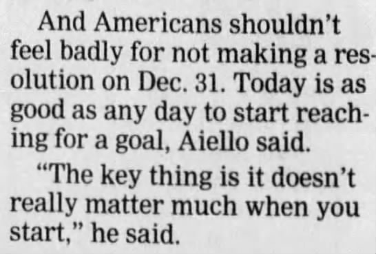 """Doesn't really matter much when you start,"""" says psychology professor Jack Aiello. 2003 - And Americans shouldn't feel badly for not..."""