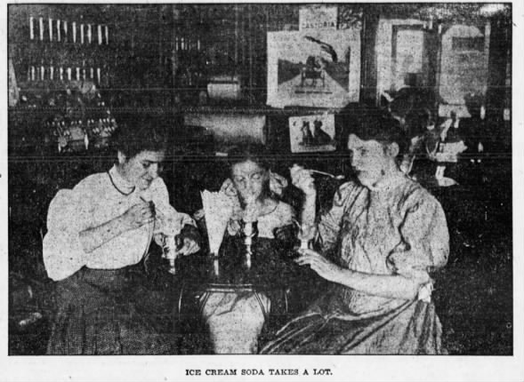 Photo: Ice cream soda, 1906