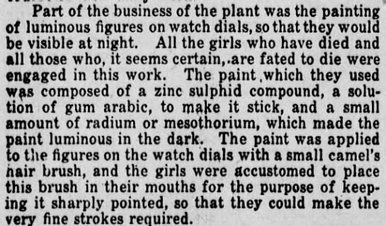 The Girls' Work - Part of the business of the plant was the...