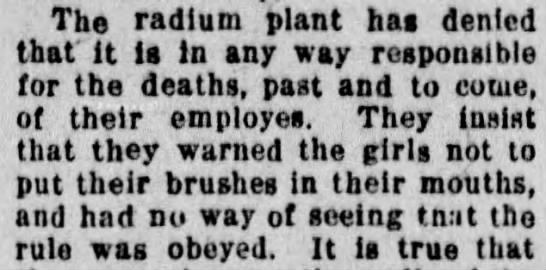 Radium Plant insists on innocence - The radium plant has denied that It is In any...