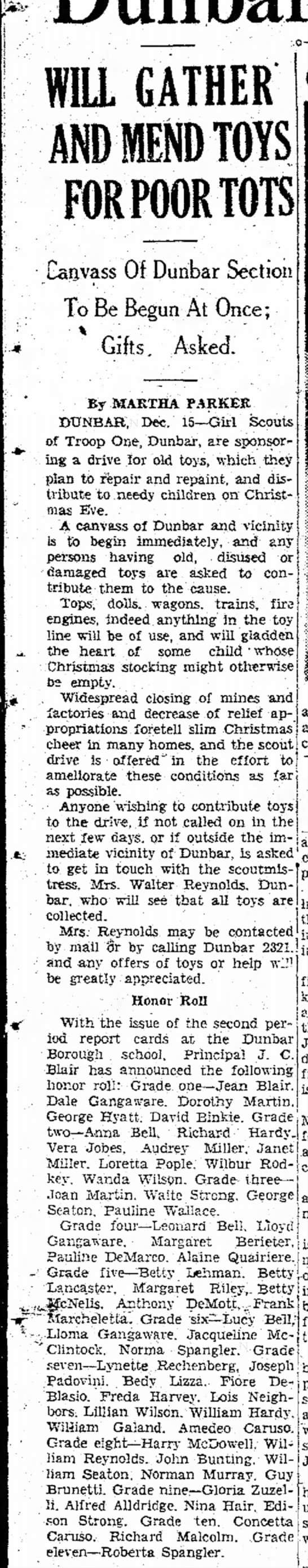 Toy Collection Article Dec. 15, 1937
