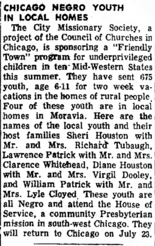 - CHICAGO NEGRO YOUTH IN LOCAL HOMES The City...