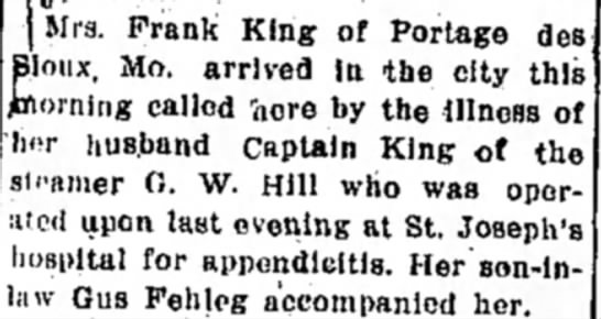 FKing8301910 - j Mrs. Frank King of Portage des pioux, Mo....