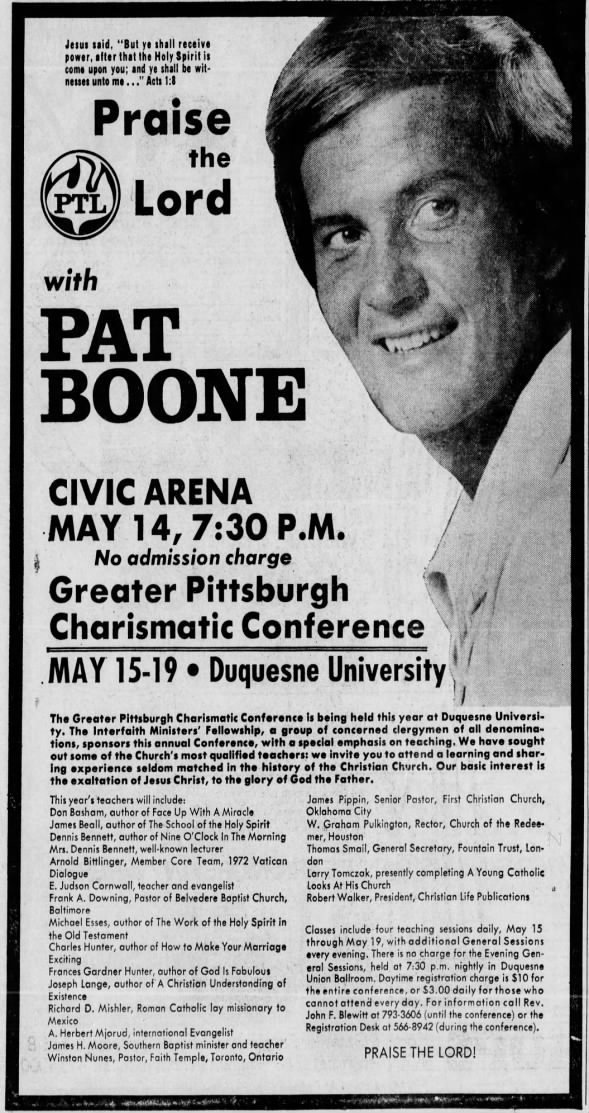 May 1973 - Greater Pittsburgh Charismatic Conference