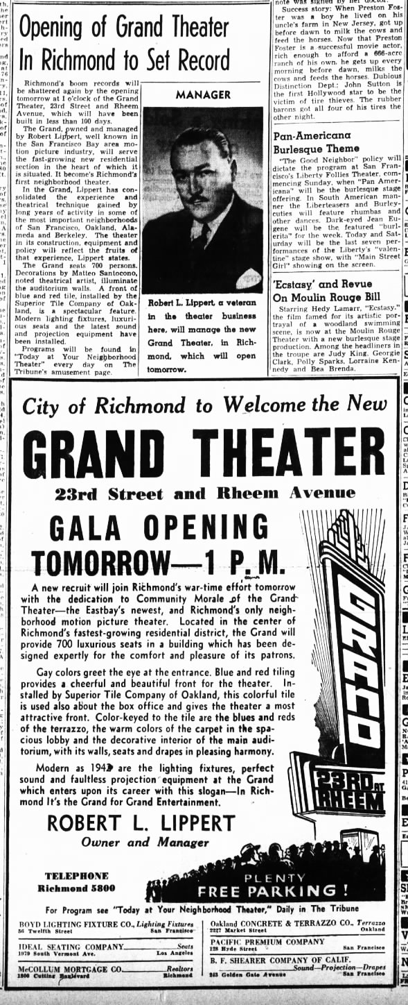 Grand theatre in Richmond opening