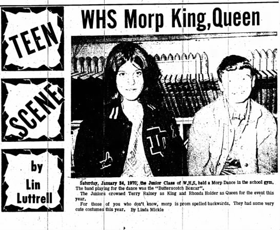 whs morp king queen - WHS Morp Saturday, January 24, 19TO;,tht Junior...