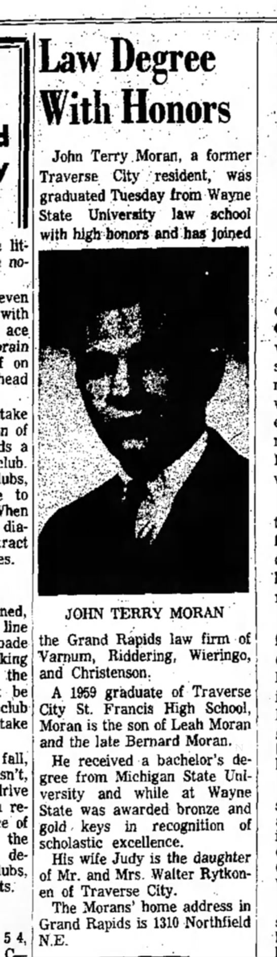 J. Terry Moran, 1969 - little no- seven with ace on take of a club....