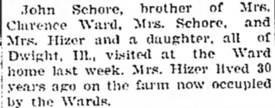 - John Schore, Clarence Ward, brother of Mrs....