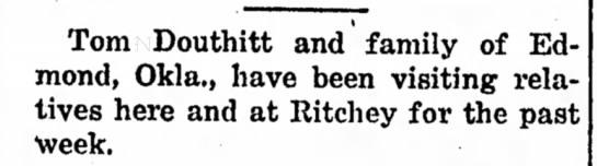 Tom Douthitt Aug. 28, 1919