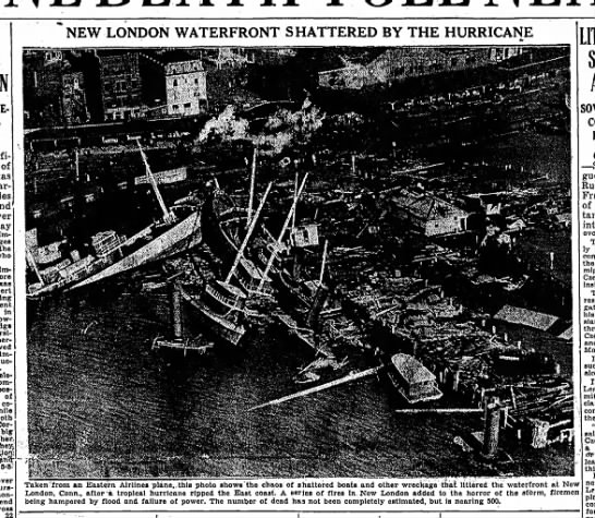 Damage to waterfront in Connecticut from 1938 hurricane - of importance the In personal immediate...