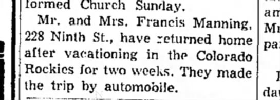 Mr & Mrs Francis Manning - Reformed Church Sunday. Mr. and Mrs. Francis...