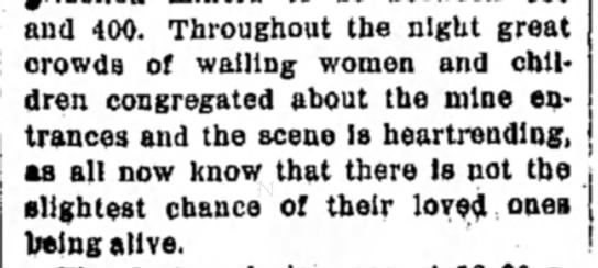 Excerpt from the Record-Argus - and 400. Throughout the night great crowds of...