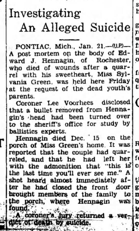 Everett Hennagin death