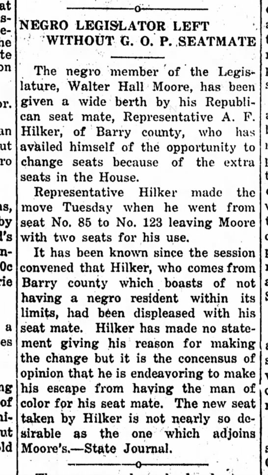 lol - on by 60c a NEGRO LEGISLATOR LEFT WITHOUT G. O....