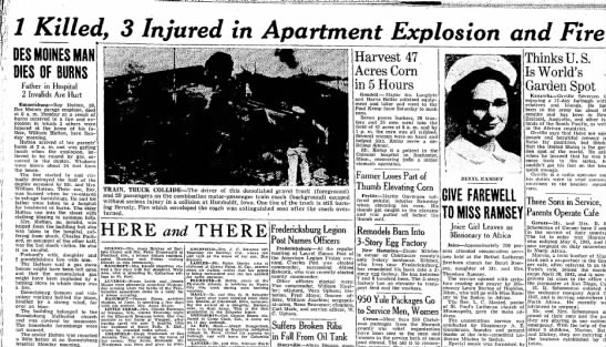 Roy Hutton killed in appartment explosion - 1 Killed, 3 Injured in Apartment Explosion and...