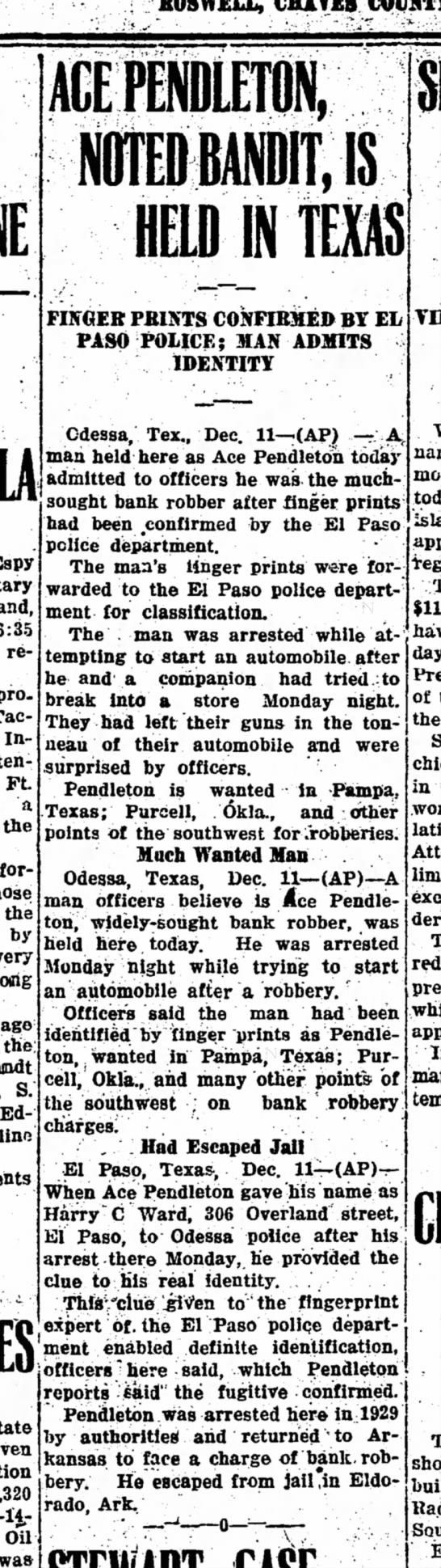 11 Dec 1930 - KOSWELL, CHATE8 received professor' Tactics In-...