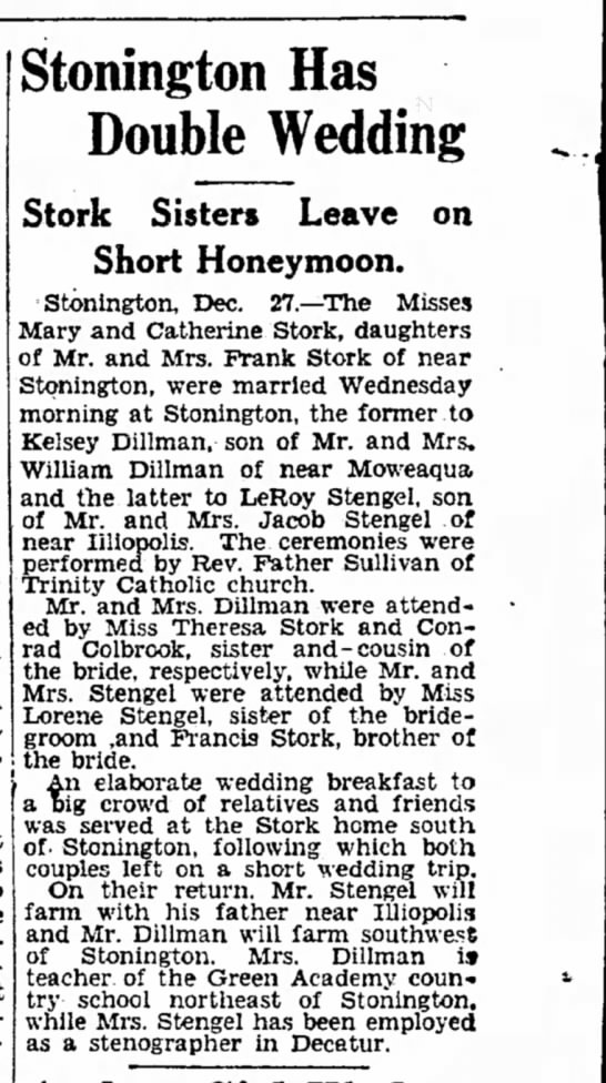Double Wedding 1928 Stonington - Boston multi-millionaire, $3,000.000 President...