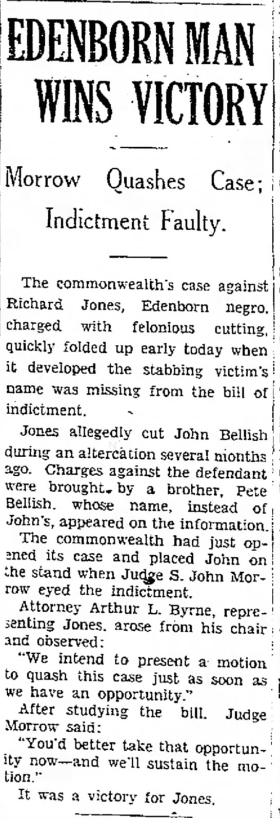 John Bellish Stabbing