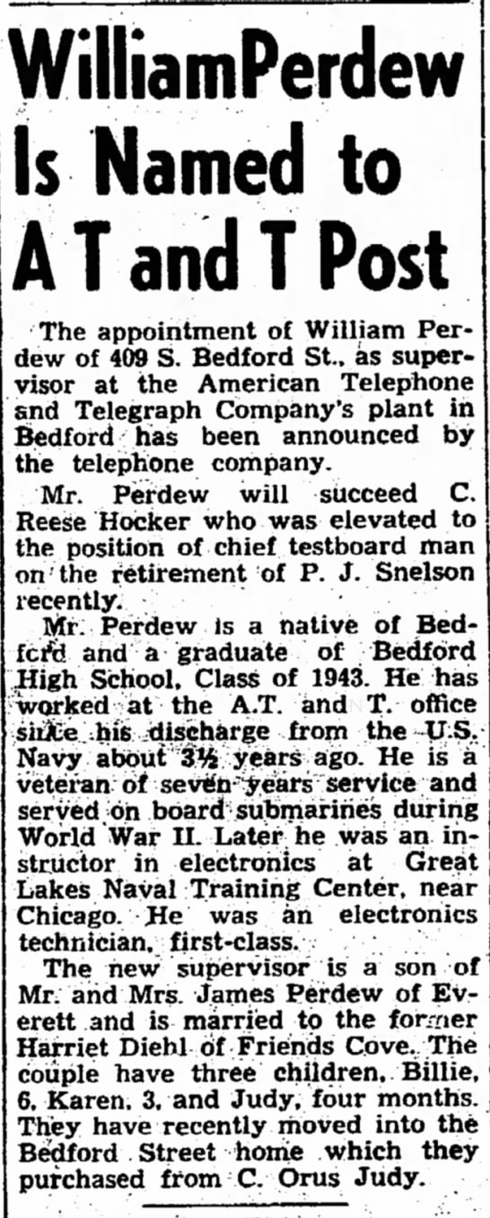 William Perdew Promoted - when including to more in the WilliamPerdew Is...