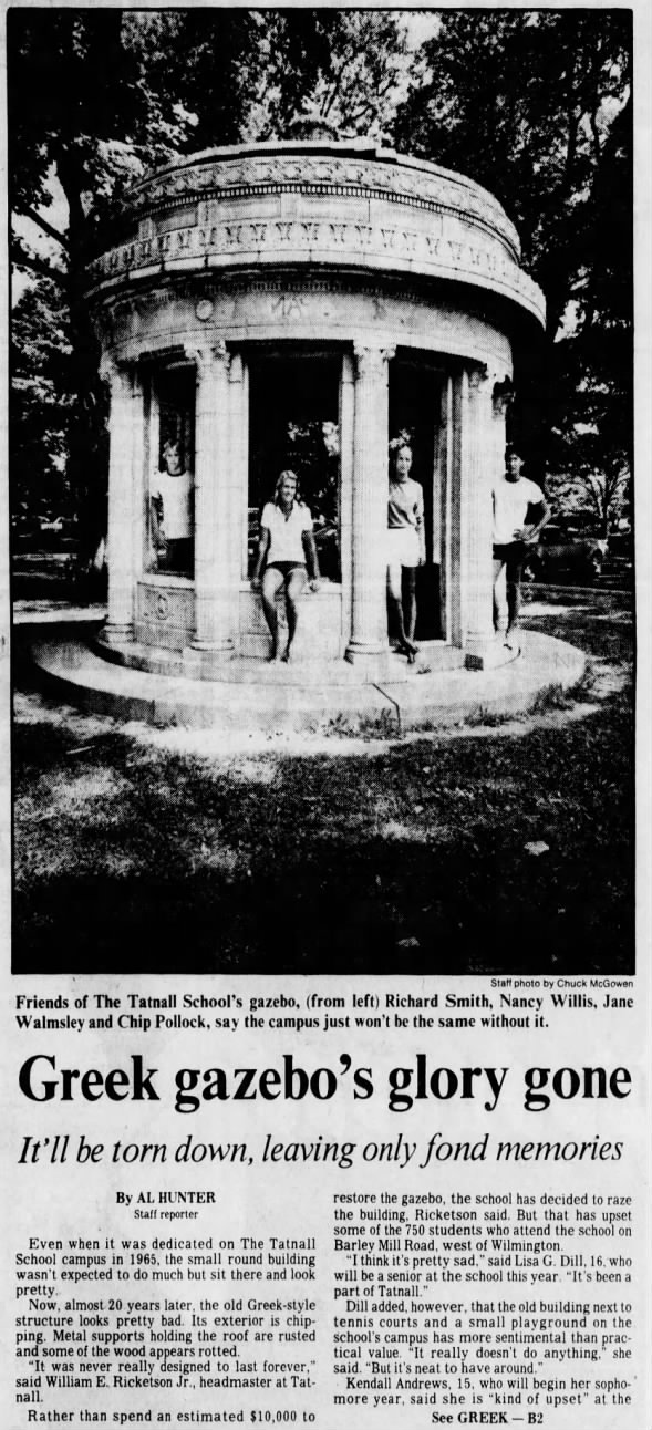 Tatnall School Greek gazebo