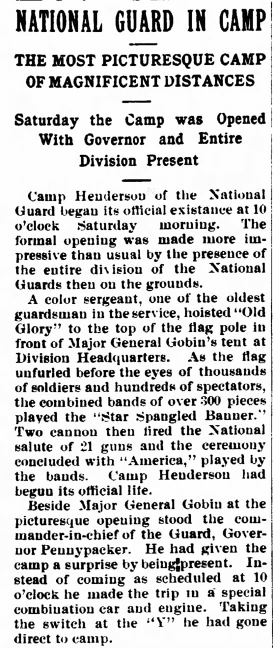 - NATIONAL GUARD IN GAMP THE MOST PICTURESQUE OF...