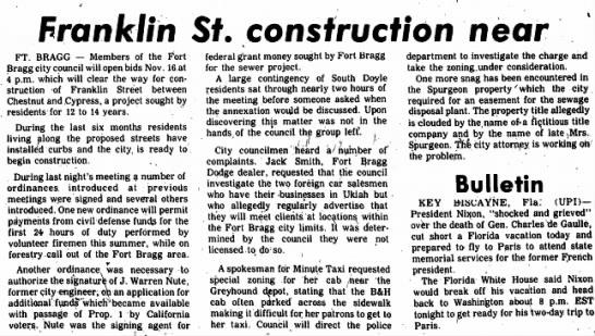 10 Nov 1970 Ukiah Daily Journal Ukiah CA John Warren Nute