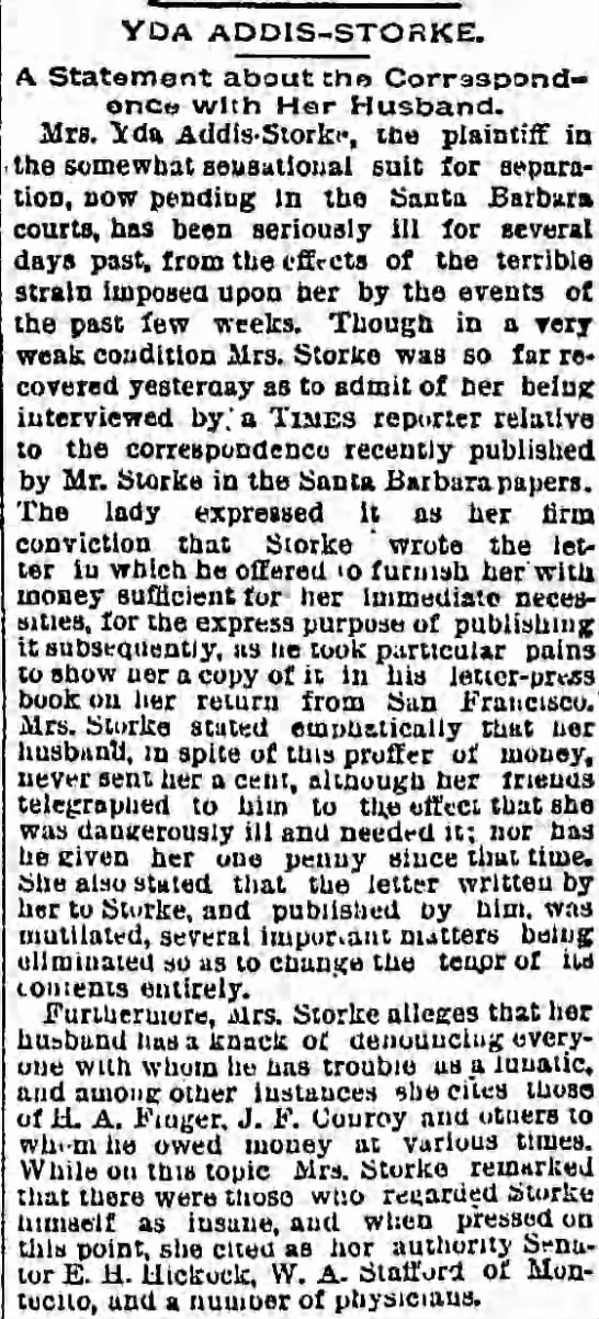 A Statement about the Correspondence with Her Husband