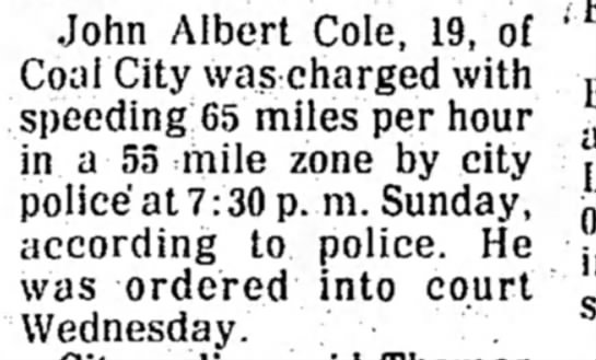 al - John Albert Cole, 19, of Coal City was charged...