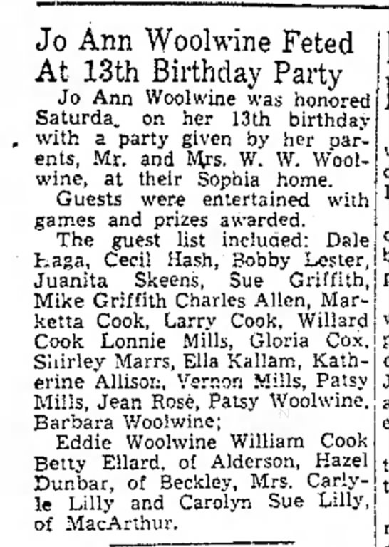 Jo Ann Woolwine