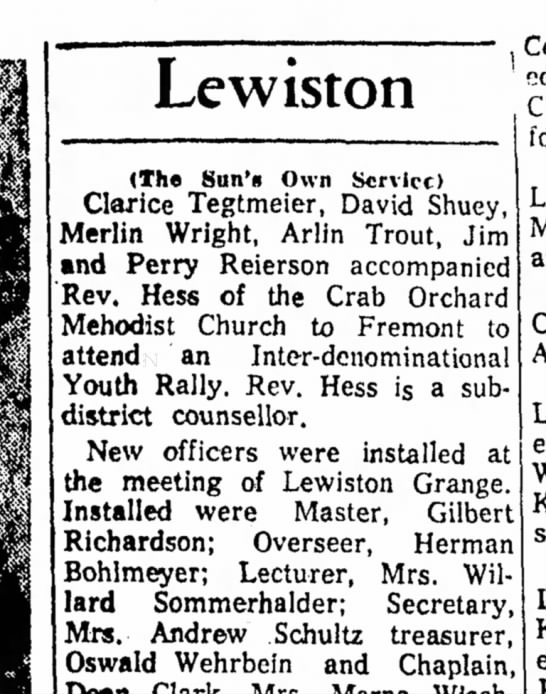 Youth rally - Lewiston (The Sun'ft Own Service) Clarice...