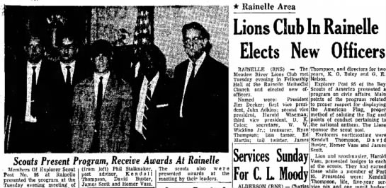 Homer vass - * Rainelle Area Lions Club In Rainelle Elects...