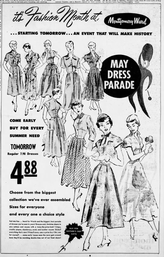 Women's dress ad (New Mexico, 1950) - is a one to two years in the state peni...