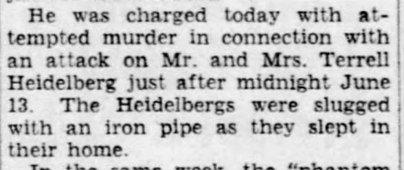Heidelbergs attacked by the Phantom Barber