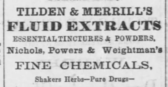 TILDEN & MERRILL'S - TILDEN & MERRILL'S FL.UID EXTRACTS ESSENTIAL...