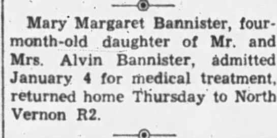 7 Jan 1955 Alvin Bannister - Mary' Margaret Bannister, four-month-old...
