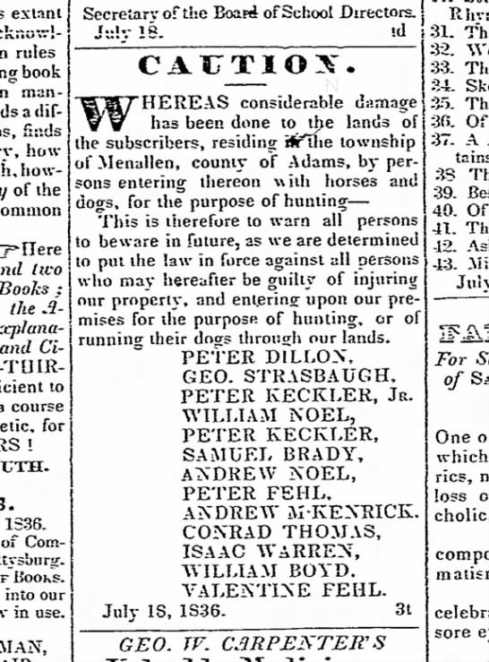 The Adams Sentinel (Gettysburg, PA) 8 August 1836 Page 2