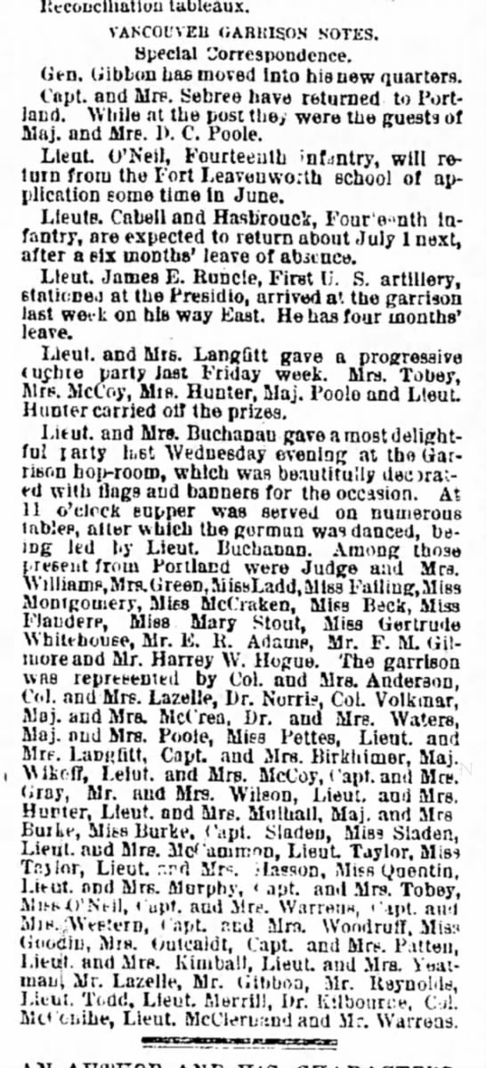 Morning Oregonian, Portland, OR, 29 May 1887, pg. 3 - the by with was to the 3tixT5 theatricals,...