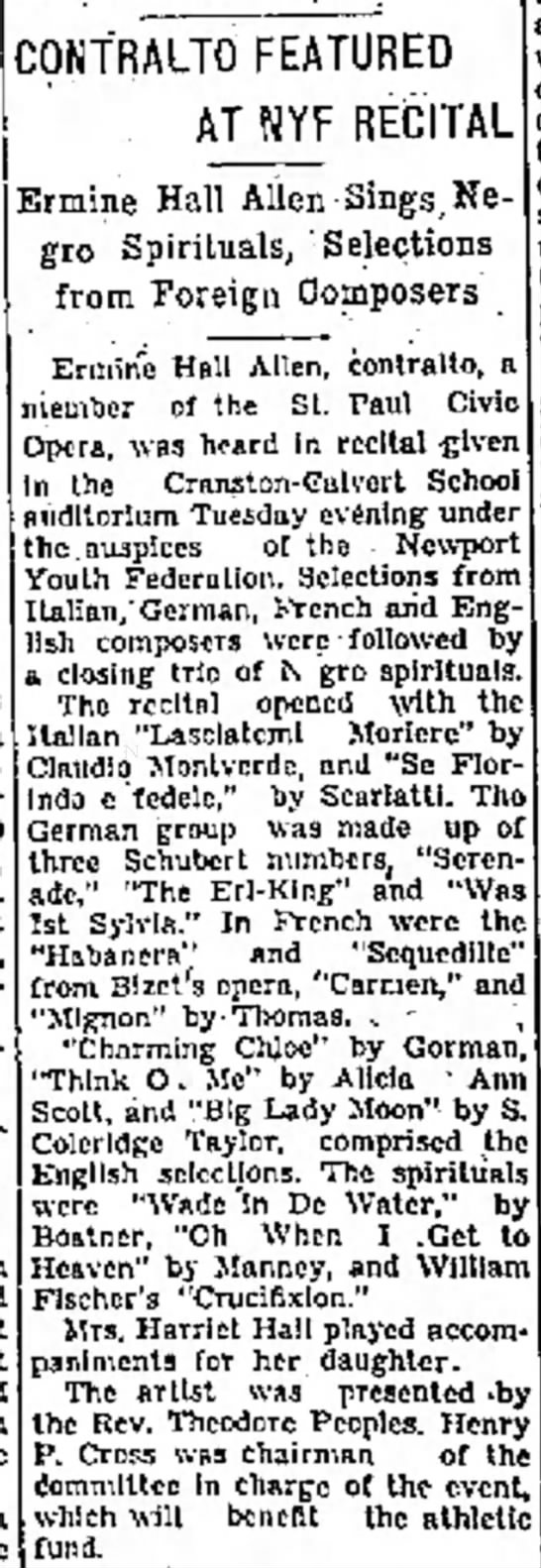 Newport, RI Newport Mercury News 22 May 1946, page 1 - to demolish The assessed to Aquid- 5C S. Robert...