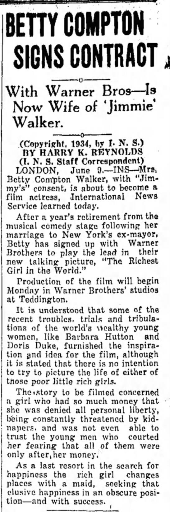 compton-18 - BETTY COMPTON SIGNS CONTRACT With Warner Bros—...
