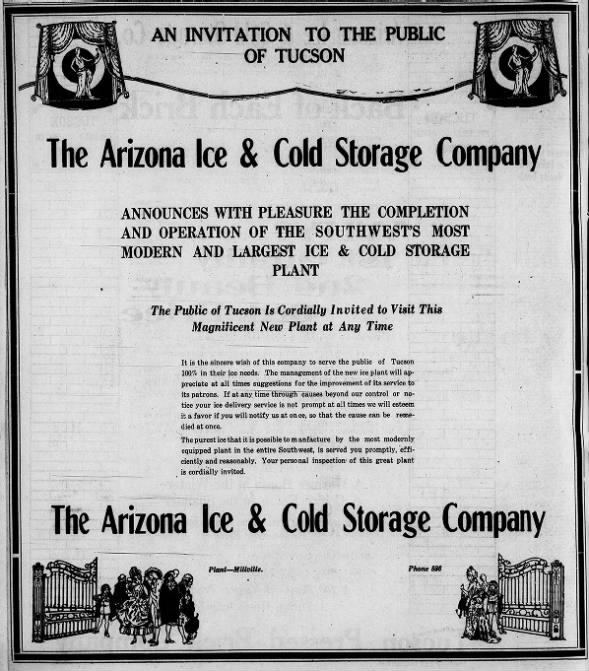 Arizona Ice and Cold Storage Co. invite