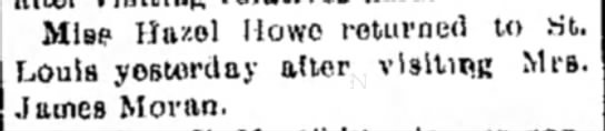howe_hazel_visits_alton_1901 - Mis? Ha/.ol Howe returned to St. Louis...